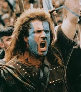 Image of William Wallace from Brave Heart!