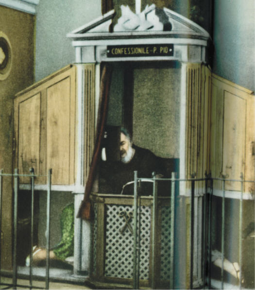 Image of Confession with Padre Pio