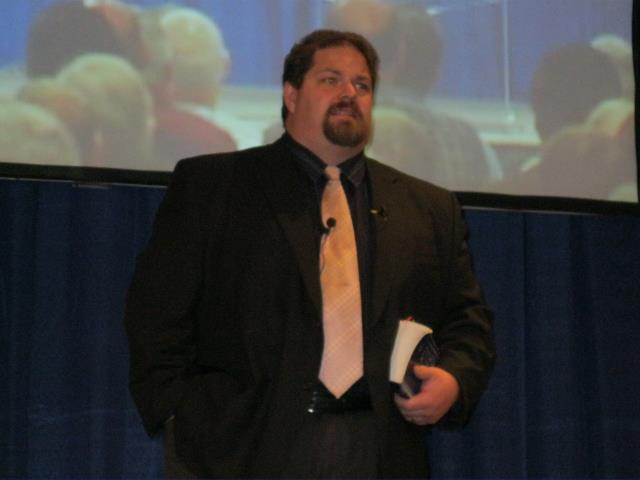 image of Joe McClane speaking in Worcester